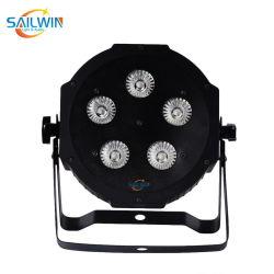 5 * 18W 6in1 Rgbaw UV 동문 LED PAR 조명 방수 LED 무대 조명(Stage Lighting)을 위한 파 캔