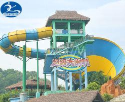 Haut de la sécurité du parc de 18 m de diamètre de l'eau diapositive pour quatre joueurs