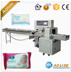 L'horizontale automatique de tissu humide oreiller Machines d'emballage