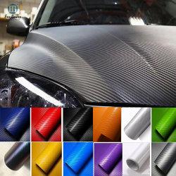 Custom 5D de haute qualité en vinyle autocollant de voiture en fibre de carbone Wrap avec 25 années d'expérience et l'ISO Cert