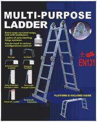 O alumínio Escada Multiuso /Escada multifuncional 4X3 passos com dobradiça Grande
