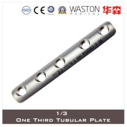 1/3 хирургического инструмента на одну треть трубчатая пластина из нержавеющей стали или титана (Ti/SS)
