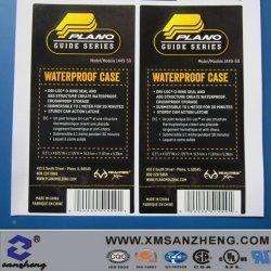 Custom résistant aux huiles Stieker semi auto-adhésif brillant avec des étiquettes de codes à barres