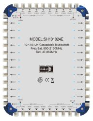 CE-goedgekeurde 10 in 24 digitale satellietontvanger met multischakelaar DiSEqC 2.0