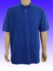 La couleur bleue Pique Polos de tissu brodé Polo Shirt