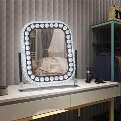 Интерьер кристаллов алмазов и Pearl компактный Голливуд украшения косметические зеркала заднего вида