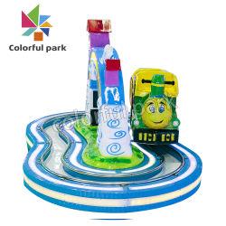 De kleurrijke Trein van het Spoor van het Vermaak van het Park Elektrische Mini voor de Ruiter van Jonge geitjes