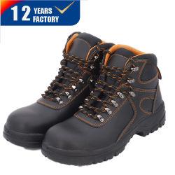 La acción de inyección de poliuretano de cuero Soomth Puntera Zapato de seguridad con la Oxford o en la suela de caucho