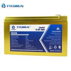 بطارية ليثيوم من نوع Tycorun LFPO4 بقدرة 12 فولت وبطارية ذات 10 أمبير في الساعة لضوء LED للطوارئ إمداد الطاقة غير القابل للانقطاع (UPS) للضوء الغامر والنسخ
