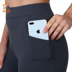 전화 포켓을%s 가진 요가 바지 적당 각반이 주문 높은 허리 운동 타이츠 여자 체조 착용에 의하여