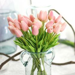 정원 실크 비전 훈장 인공적인 결혼식 튤립 꽃
