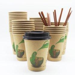Новый продукт 100% биологически разлагаемое Eco Упаковка 8 унций не пластмассовые чашки бумаги на водной основе