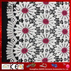 Различные цвета моды дизайн молоко шелковые ткани кружева для леди тканью