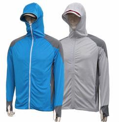 La impresión de sublimación personalizado para protegerse del sol La pesca del Torneo de Pesca de la máscara de camisas de Vestido Hoody