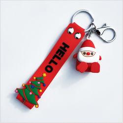 Neuer Entwurf kundenspezifische Weihnachtennette weiche Belüftung-Silikon-Schlüsselring-Schlüsselketten-Förderung-Geschenke