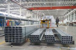 Salle blanche de matériaux de construction du profil système de traitement de l'acier Acier en forme de C