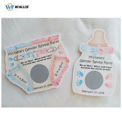 La impresión personalizada diseño OEM Cero-off Tarjetas PVC