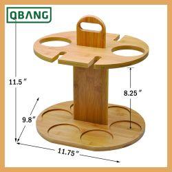 Rack de suporte de bambu Organizador de vinho de mesa em sua bancada Exibir