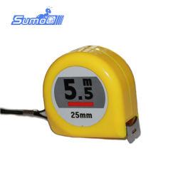 5m индивидуального дизайна No-Locking рулетка с АБС, Состояния двухцветного светового индикатора с покрытием из нейлона и отвала кнопки Двусторонняя печать