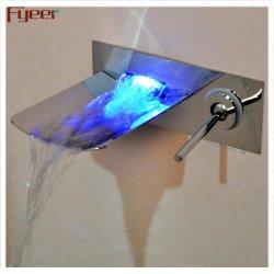 Fyeer Waterfall LED-Hahn für Wandmontage mit einem Griff