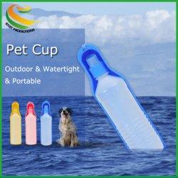 Stock Pet Water Trinker 500 ml Dog Cat Outdoor Portable Pet Folding Wasserkocher/Flasche
