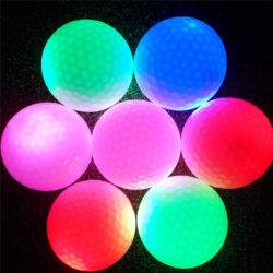 LEDの小さい電子ゴルフ・ボールは点滅のつけ日夜ゴルフをする練習を光る