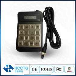Teclas 16 RS232 Senha Quiosque ATM Pinpad de metal para cobrança de tarifa (HCC-990D)