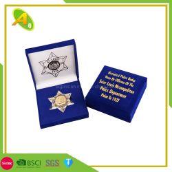 Fabrikant Groothandel Custom elegant Houten Medaille Medaillon Coin Display Packaging Cadeaudoos Sieraden Ornament opslag Velvet doos (01)