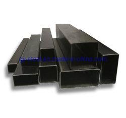 Q195主な品質の中国の工場からの穏やかなカートンの黒い正方形の管状の鋼鉄サイズ