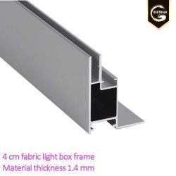 4 cm de profil aluminium extrudé Ultra Slim bâti de la boîte de lumière