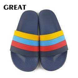 Plage d'été de patins en caoutchouc Greatshoe plaine unisexe Diapositive sandale de diapositives en PVC sandale diapositive personnalisée Logo de la chaussure de patin