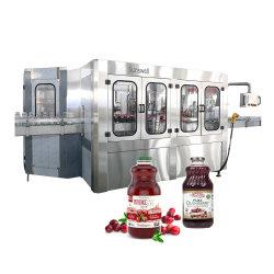 Full automatic 500ml / 1L frasco de vidro assépticos SUCO ENVASE A QUENTE de nivelamento de enchimento de lavar a máquina de sumos de frutos de polpa de laranja da linha de produção