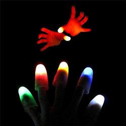[لد] إصبع مصابيح تمويه ضوء أصابع يميل إبهام سحريّة لعبة