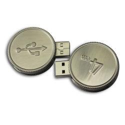 سعر المصنع جودة عالية الذهب الذهب جولة الذهب Coin فلاش USB محرك أقراص Bitcoin USB