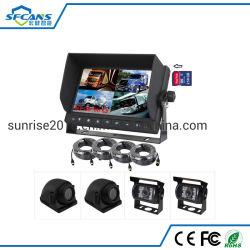 7 polegada Carro Vista Traseira do Monitor de gravação digital de câmara CCTV para caminhões e ônibus do Reboque
