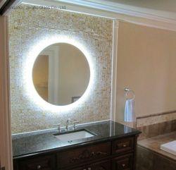Ventes chaud 24x24 pouces rétroéclairé par LED ronde Allumé Miroir de salle de bains