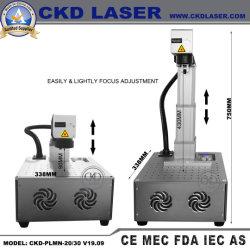 motorisierte Tischplattenlaser-Markierungs-Stich-Minidruckmaschinen der faser-23kg für Kleinunternehmen-Metallschmucksache-Plastiktelefon-Kasten-Firmenzeichen-Markierung