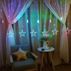 """Звезда"""" светодиодные индикаторы String шторки окна Xmas волшебная лампа дом в стиле Арт Деко"""