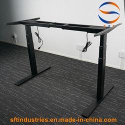 싼 중국 통제 시스템 인간 환경 공학 이중 모터 조정가능한 테이블 프레임