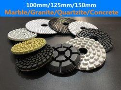tamponi a cuscinetti per lucidare del diamante di 4inch/5inch/6inch Flexble per marmo/granito/calcestruzzo