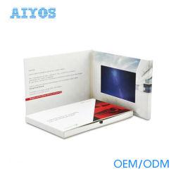 Pantalla LCD de 7 pulgadas de alta calidad de video mensaje de saludo de la tarjeta de negocios