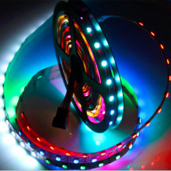 مصابيح LED Strip من نوع DC12V مقاومة للماء، بقدرة 12 فولت، 2811 بكسل، 60 بكسل، قابلة للعنونة