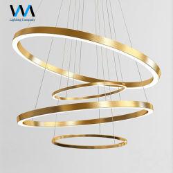 صنع وفقا لطلب الزّبون فريدة يعلّب مستديرة ذهبيّة حديثة مدلّاة ثريا ضوء [لد] [و] لأنّ فندق بيتيّة