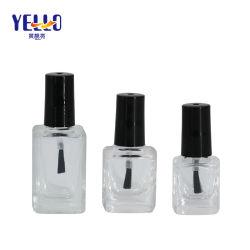 Embalagem de cosméticos Praça transparente com esmalte de unha garrafa de vidro