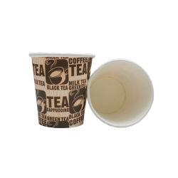 Revestido a PE 6.5 oz copos de papel descartáveis para bebidas quentes