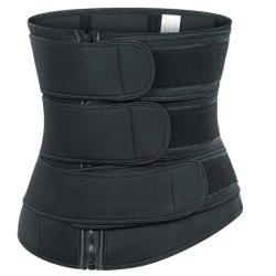조정가능한 운동 지퍼 3 벨트 압축 Sauna 효력 허리 트리머 허리 조련사 셰이퍼