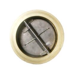 Placa de bronce de aluminio de doble válvula de retención de la oblea