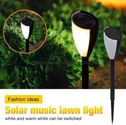 옥외 LED 정원 조경 태양 에너지 빛 방수 음악 잔디밭 램프