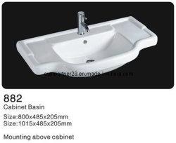 Salle de bains Cabinet lavabo en céramique, salle de bain en céramique du Cabinet se laver les puits