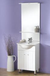 白60cmの床の浴室の虚栄心のキャビネット(OLW-04)